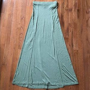 Forever 21 M-Slit Maxi Skirt Light Olive Color